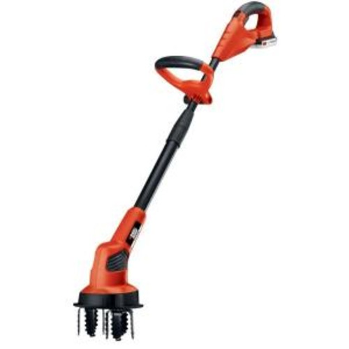 BLACK+DECKER 7 in. 20-Volt MAX Lithium-Ion Cordless Garden Cultivator/Tiller with 1.5Ah Battery and Charger Included