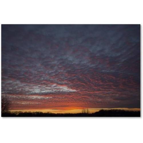 Kurt Shaffer 'Amazing Winter Sunset' Canvas Art [option : 16x24 Wrapped Canvas Art]