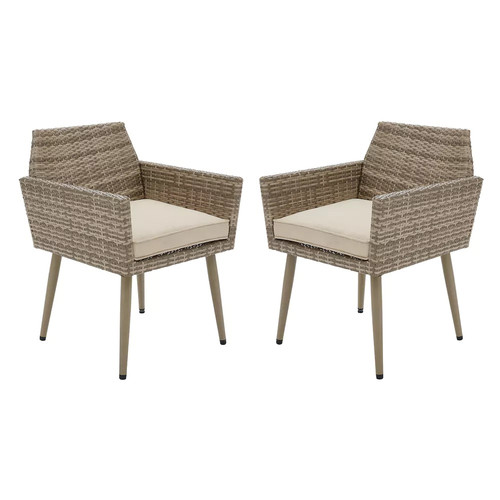 INK+IVY Avery Patio Arm Chair 2-piece Set