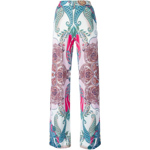 ETRO Floral Print Wide Leg Trousers