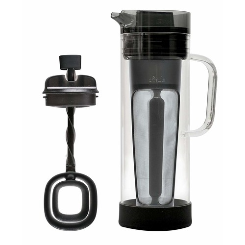 Ep Cold Brew Caraf Systm Size 1ct Ep Cold Brew Glass Carafe System W/Cold Brew Core & Mixer Gray 50 Oz [Standard Packaging]