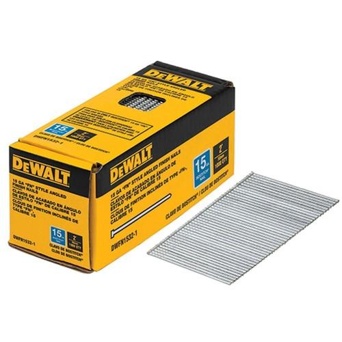 DEWALT 2 in. x 15-Gauge Angled Glue Collated Finish Nails (1,000 per Box)