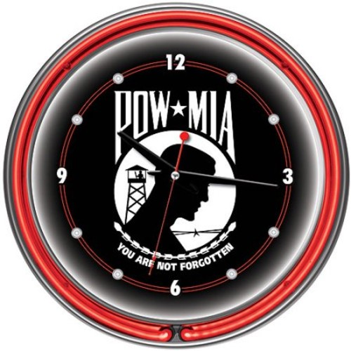 Trademark Global POW 14 Neon Wall Clock