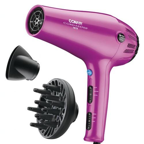 Conair 1875 Watt Cord-Keeper Hair Dryer; Pink