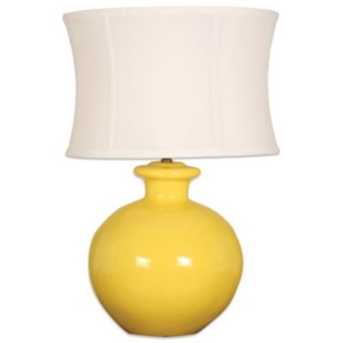 Splash 1-Light Round Table Lamp in Mimosa