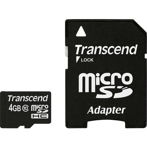 Transcend - 4GB microSDHC Class 10 Memory Card