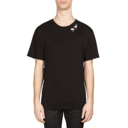 SAINT LAURENT Flamingo-Print Tee