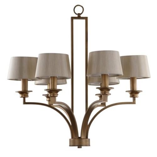 Safavieh Lighting 28-Inch Adjustable 6-Light Mindy Craftsman Gold Pendant Lamp