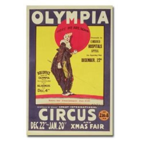 22 in. x 32 in. Bertram Mills Circus 1922 Canvas Art