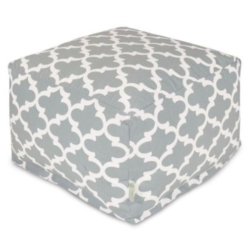 Majestic Home Goods Trellis Bean Bag Ottoman, Indoor/Outdoor