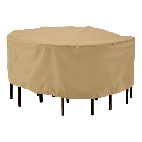 Classic Accessories Terrazzo Round Table & Chair Cover Set - Outdoor