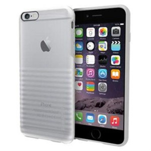 Incipio Rival Co-Molded Transparent Textured Case for iPhone 6 Plus - iPhone - Translucent Frost - Textured Stripe - Plextonium, Polycarbonate, Flex2O, Thermoplastic Polyurethane (TPU)Show More + - IPH-1198-FRST