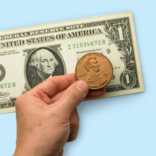 Learning Resources Big Money 3-D Magnetic Coins And Bills
