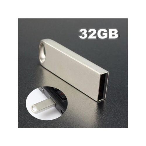 32GB Portable Mini Metal Silver USB 2.0 Flash Stick Memory Drive Pen Storage