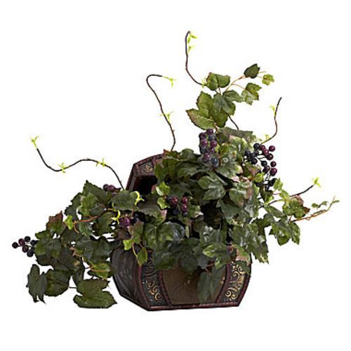 Nearly Natural Grape Leaf & Chest Silk Plant