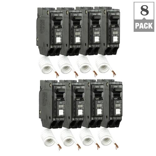 GE Q Line 15 Amp Single-Pole Arc Fault Combination Circuit Breaker (8-Pack)