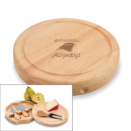 Picnic Time Carolina Panthers Brie Cheese Board Set