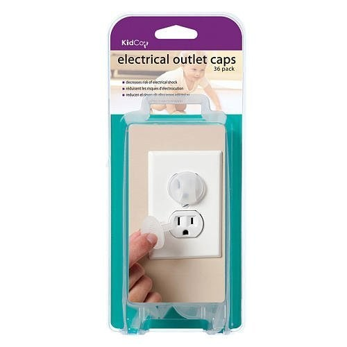 KidCo Electrical Outlet Caps - Clear - 36 ct [36 Piece]