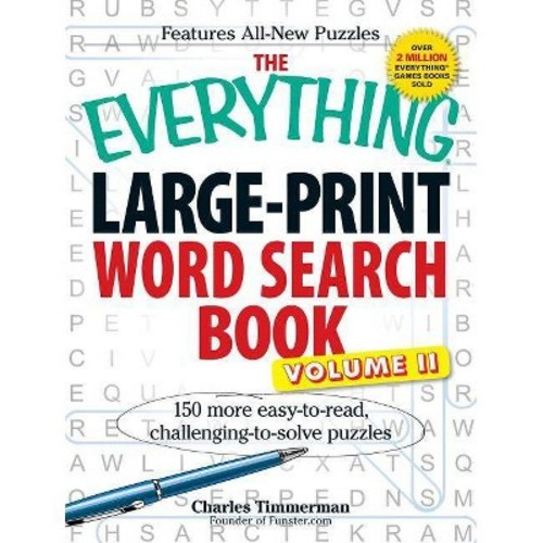 Everything Large-Print Word Search Book : 150 More Easy-to-Read, Challenging-to-Solve Puzzles