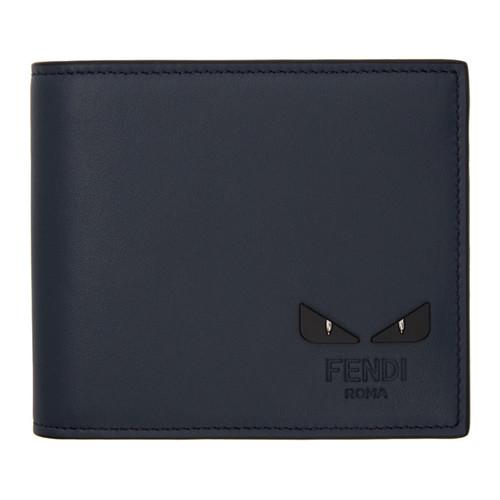 FENDI Blue 'Bag Bugs' Wallet