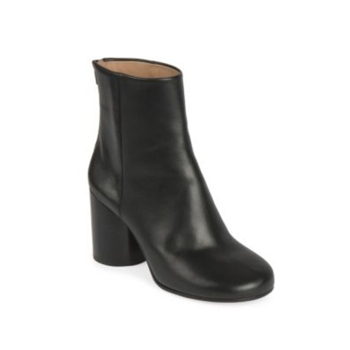 MAISON MARGIELA Barrel-Heel Leather Booties