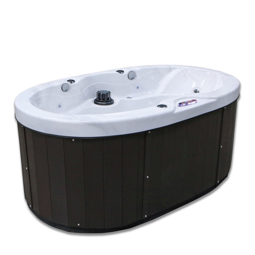 American Spas 2-Person 20-Jet Valentine Spa Hot Tub with Bluetooth Stereo System, Subwoofer and Backlit LED Waterfall Handrail