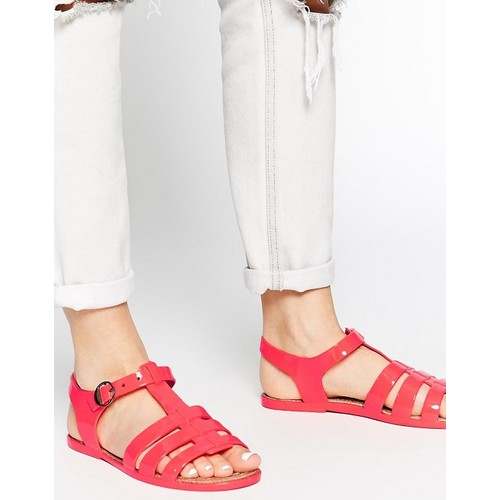 Truffle Collection Jelly Espadrille Strappy Flat Sandals