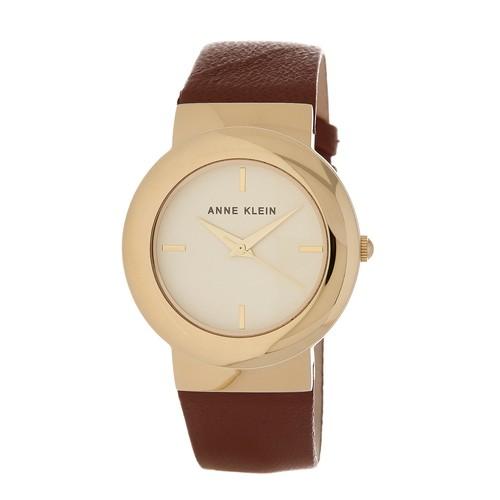 Women's Round Leather Strap Watch, 36mm