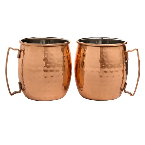 Core Bamboo Hammered Moscow Mule Mugs - 20 fl.oz., Set of 2