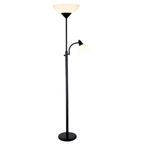 Adesso Piedmont Torchiere Floor Lamps With Reading Light