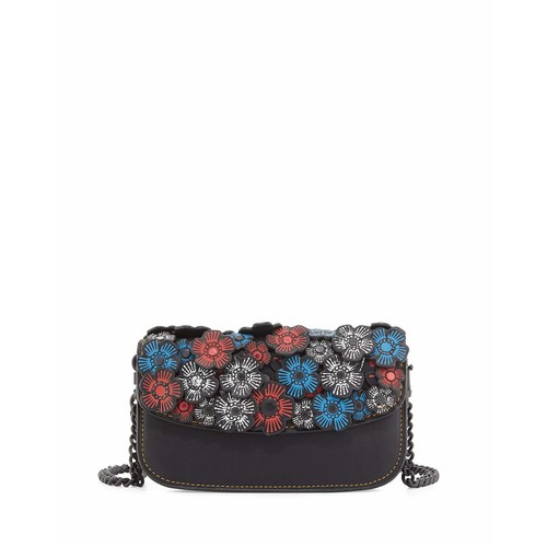 Chain Tea Rose Clutch Bag