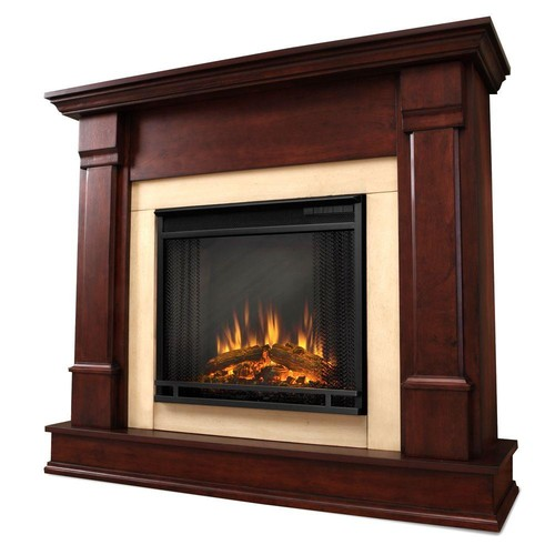 Real Flame Silverton 48 in. Electric Fireplace in Dark Mahogany