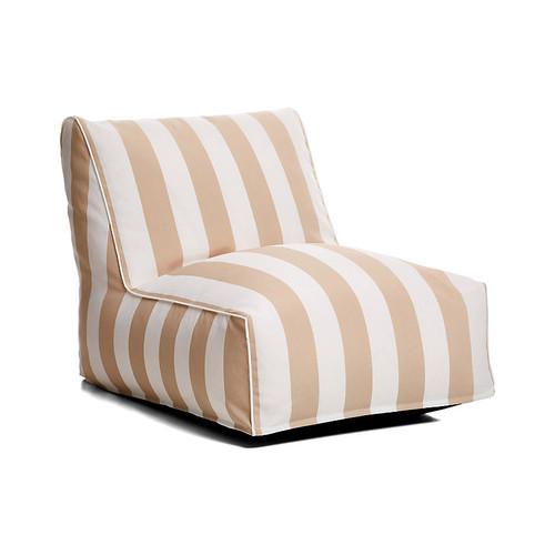 Cabana Stripe Outdoor Lounger, Beige/White