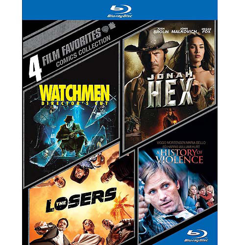 4 Film Favorites: Comics Collection - Watchmen / Jonah Hex / The Losers / A History Of Violence (Blu-ray) (Widescreen)