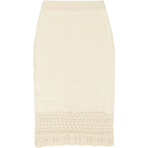 Dwight crocheted cotton mini skirt
