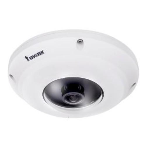 Vivotek FE9381-EHV - Network surveillance camera - dome - vandal / weatherproof - color (Day&Night) - 5 MP - 1920 x 1920 - fixed focal - audio - LAN 10/100 - MJPEG, H.264, H.265 - DC 12 V / PoE