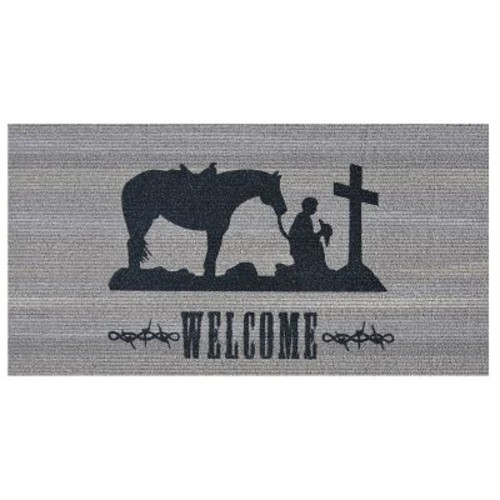 Home & More Prayerful Cowboy Doormat