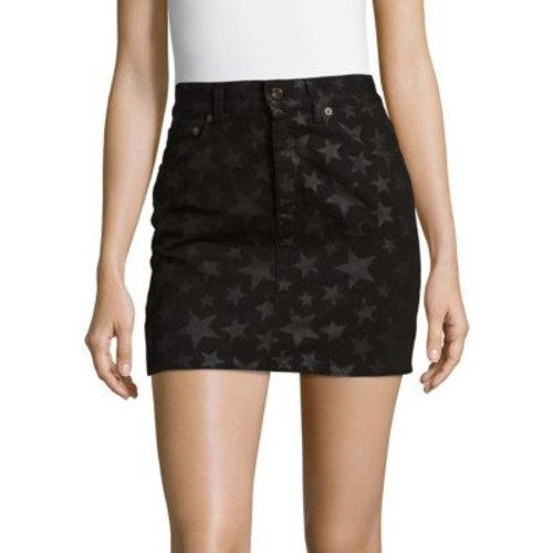 Saint Laurent - Star Cotton Mini Skirt