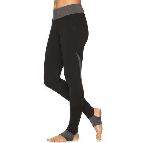 Women's Gaiam Om Panel Stirrup Barre Yoga Leggings