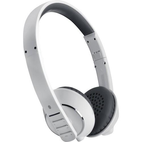 MEE audio - Air-Fi Runaway Bluetooth Wireless On-Ear Headphones - White/Gray