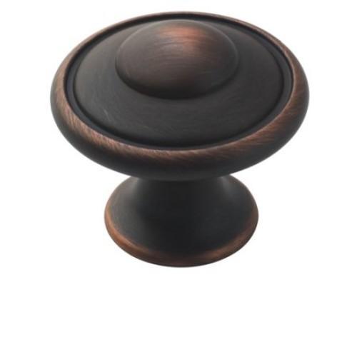 Amerock Allison Round Cabinet Knob 1-3/16 in. Dia. 1-1/16 in. Satin Nickel 1 pk(BP53002G10)