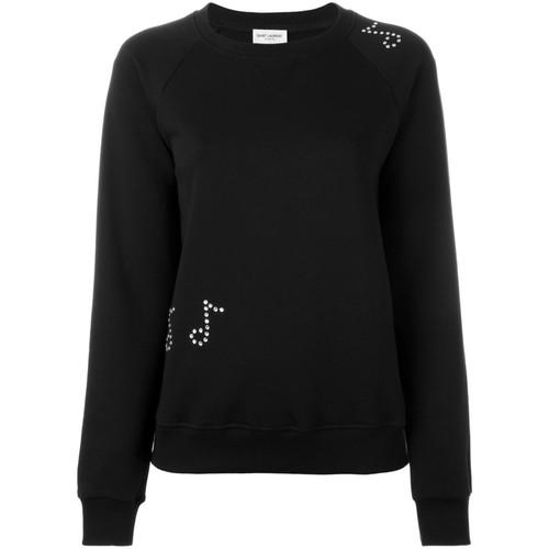 SAINT LAURENT Music Note Studded Sweatshirt