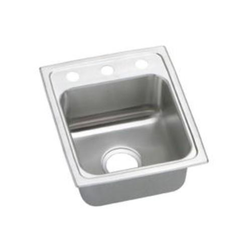 Elkay Pacemaker Drop-In Stainless Steel 15 in. 1-Hole Bar Sink