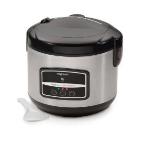 Presto 05813 16 Cup Digital Rice Cooker [Electric - With Steamer - Stainless Steel - Non-stick]