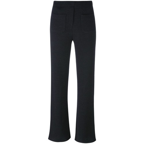 HELMUT LANG Ribbed 'Flare' Trousers
