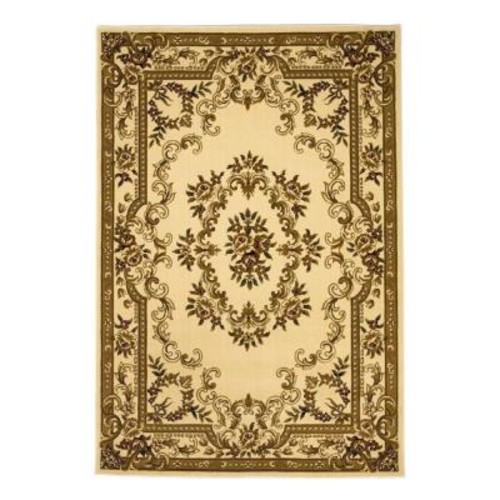 Kas Rugs Aubusson Ivory 3 ft. 3 in. x 4 ft. 11 in. Area Rug