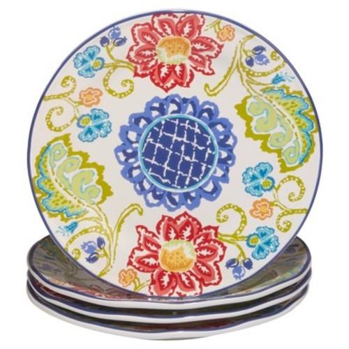 Certified International San Marino by Joyce Shelton Ceramic Dinner Plates 11.25'' Blue - Set of 4