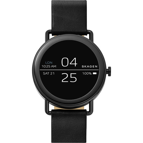 Skagen Falster Black Leather Smartwatch