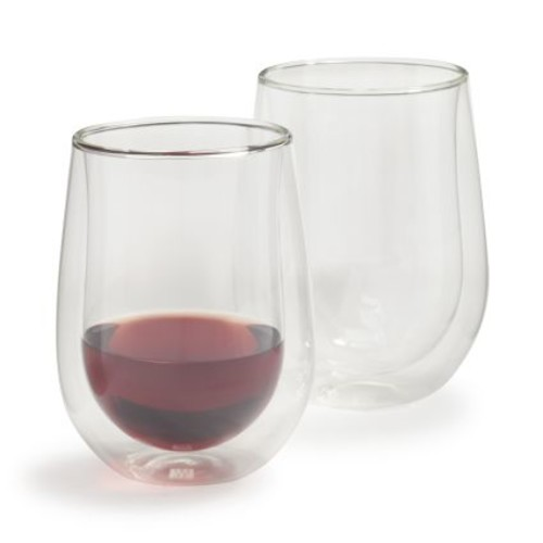 Zwilling J.A. Henckels Sorrento Double-Wall Stemless Wine Glasses, 12 oz., Set of 2