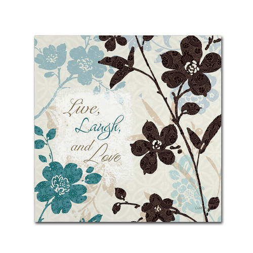Lisa Audit 'Botanical Touch Quote II' Canvas Art